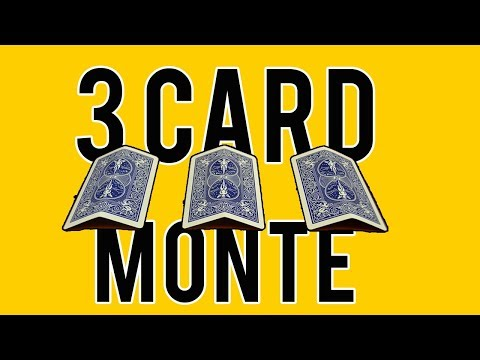 3 Kartu Monte!! Trik Rahasia Penipu! - TUTORIAL SULAP KARTU