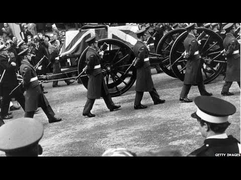 The day a nation buried WW2 leader Winston Churchill - Witness - BBC News