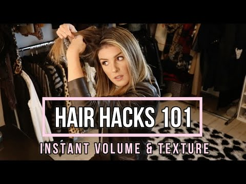 HAIR HACKS EVERY GIRL SHOULD KNOW  Add Instant Volume & Texture To Hair  Shenae GrimesBeech