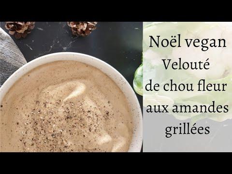 🎄🎄🎄-noel-vegan:-velouté-de-chou-fleur-aux-amande-grillées.-facile-et-économique-!-🎄🎄🎄