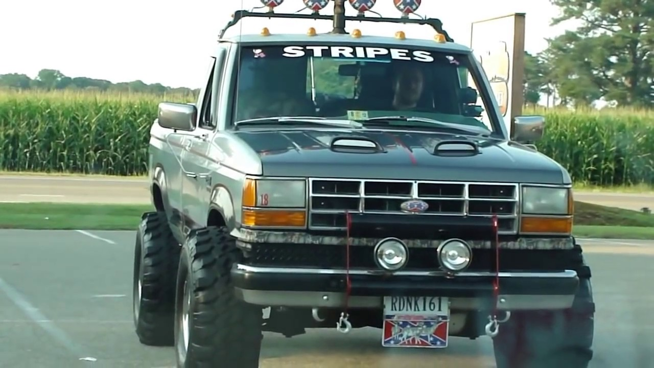 ford ranger 4x4 mud tires rebel flag lifted whiskey bent and hell bound damn son youtube