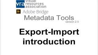VRA Bridge Export-Import Tool: Introduction