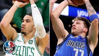 Jayson Tatum scores 18, Luka Doncic tallies 19 in Celtics' win vs. Mavericks | NBA Highlights