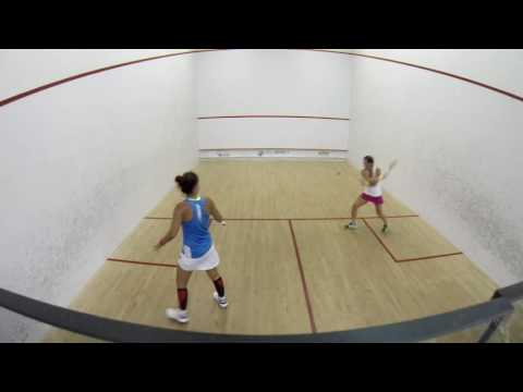 Jenny Duncalf vs. Rachel Grinham Squash Exhibition. San Diego Squash 6.29.16