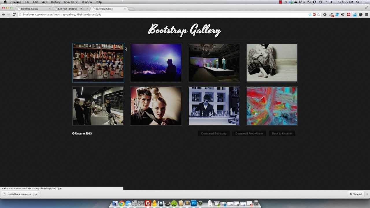 Twitter Bootstrap: Responsive Lightbox Gallery mp4