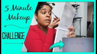 5 Minute Makeup Challenge 2019   Collab with Family at Heart   Zen Chini Vlogs