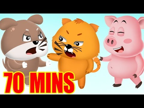 Popular Nursery Rhymes Songs with Lyrics and Action for Children & Babies - Animation For Kids