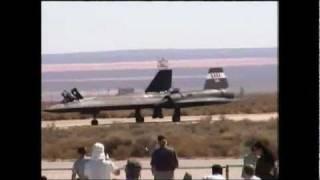 SR 71 Blackbird last flight ever.Edwards AFB open house 1999.