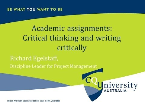Preparing and Writing Academic Assignments - Richard Egelstaff