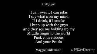 pretty girl(cheat codes×Cade remix)-lyrics-Maggie lindemann×cheat codes×cade