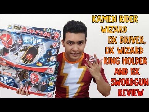 Kamen Rider Wizard DX Driver, DX Wizard Ring Holder and DX Swordgun Review
