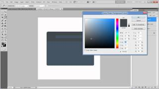 How to create a menu button in Photoshop