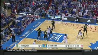 Baylor at Kansas | 2016-17 Big 12 Men's Basketball Highlights