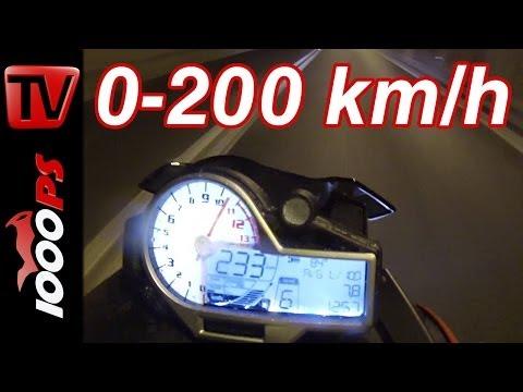 0-200km/h   BMW S1000R-2014   Beschleunigungsvideo