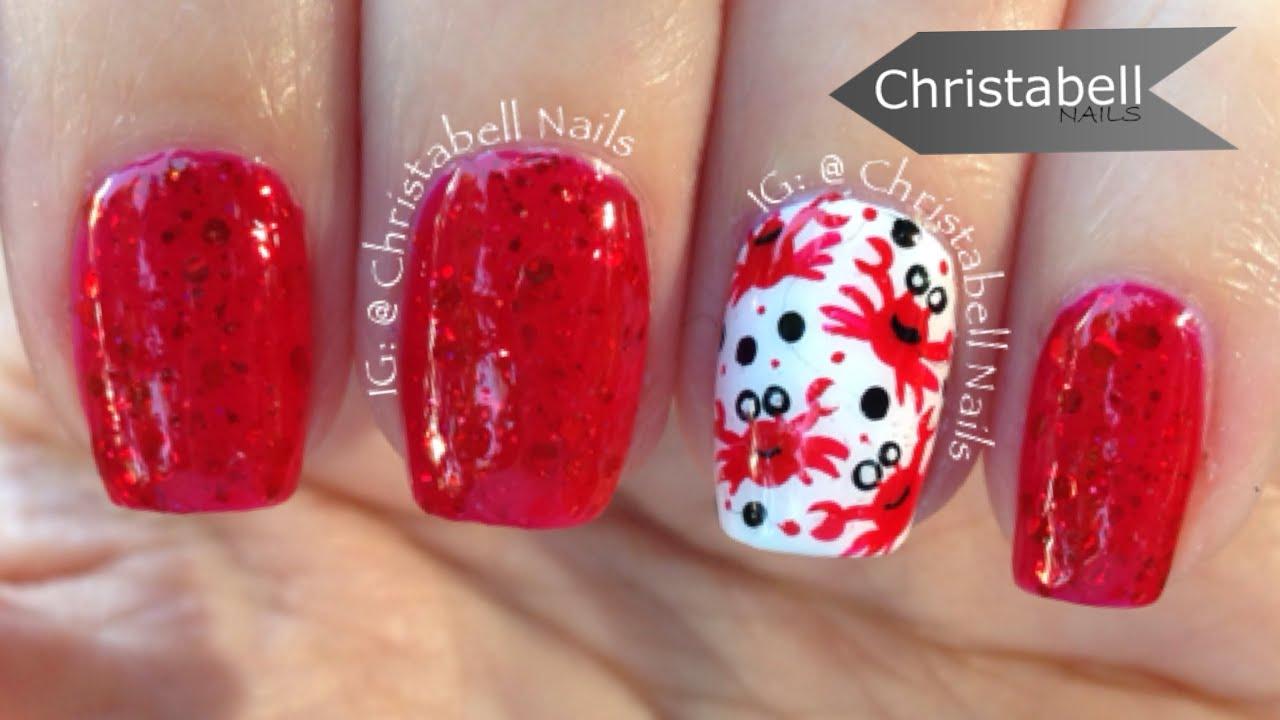 christabellnails beach crab nail