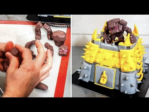 Clash Of Clans Cake - How To Make by CakesStepbyStep
