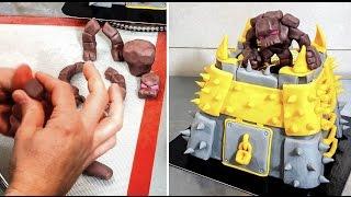 Gold Storage Clash Of Clans Cake - How To By Cakesstepbystep