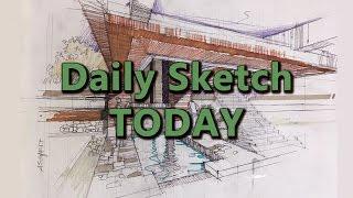 Interior daily sketch   Скетч интерьера.