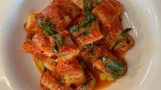 Classic Potato Gnocchi | Easy Home Made Recipe |  With Tomato Sauce