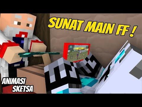 Lucu - Frostdiamond Sunat main FF ( Animasi Minecraft Indonesia )
