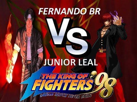 ►THE KING OF FIGHTERS 98 ► FERNANDO BR    Vs   JUNIOR LEAL (FT20/FIGHTCADE 1) AO VIVO
