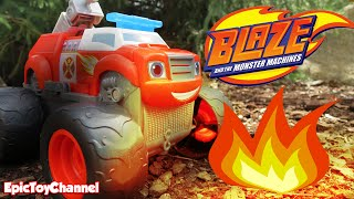 BLAZE AND THE MONSTER MACHINES Fire Rescue Blaze Super Stunts Blaze, Monster Trucks Epic Toy Channel
