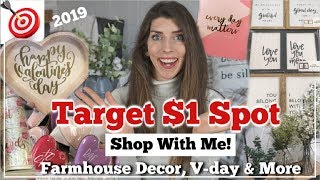 NEW Dollar Spot 2019 Farmhouse Decor, Valentines & More   Shop With Me   Momma From Scratch