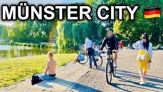 [4K] Walk in Münster City Germany 2020 - Relaxing Aasee Lake Recreation Area