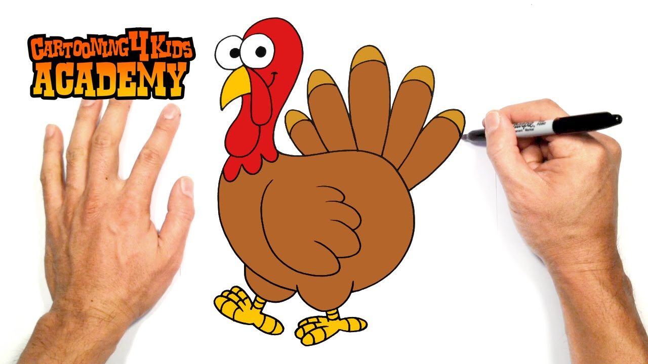 Uncategorized How To Draw A Turkey For Kids how to draw a turkey art for beginners youtube