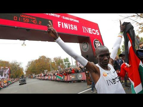 ألعاب القوى: الكيني إيليود كيبتشوجي أول عداء يكمل سباق الماراثون في أقل من ساعتين  - 10:54-2019 / 10 / 13