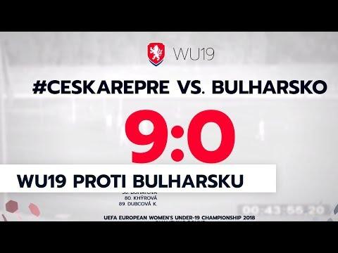 WU19: Česká republika - Bulharsko 9:0 (4:0)