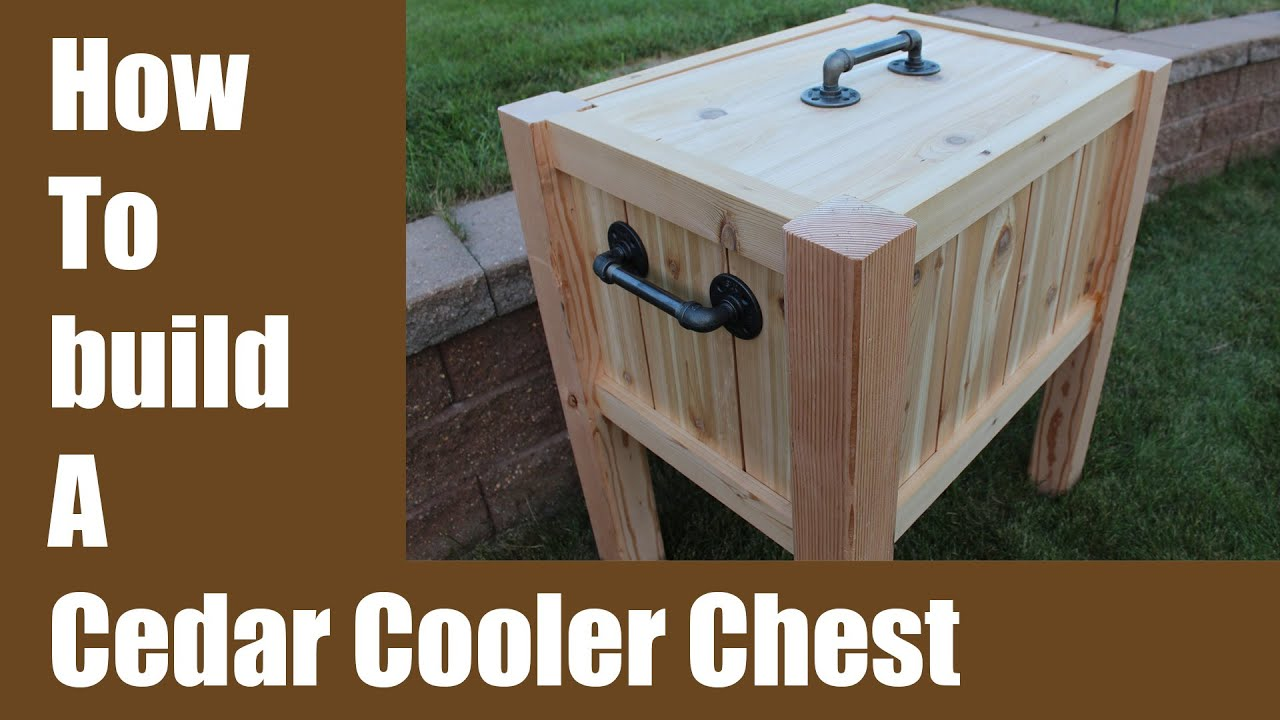 Build a Cedar Cooler Chest Iron Pipe Hardware