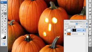 Photoshop lernen - so Erstellen ein Jack-O'Lantern
