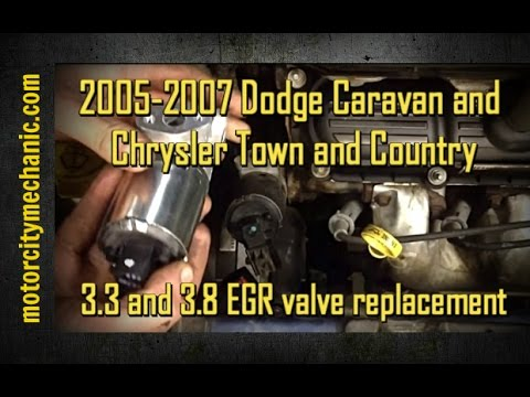 20052007 Dodge Caravan and Chrysler Town and Country 33 and 38 EGR valve replacement  YouTube