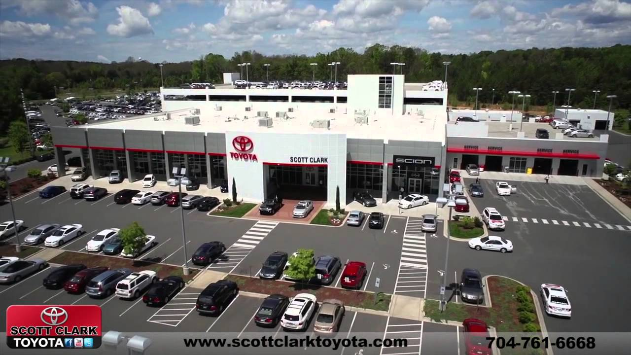 Summer Time Aerial Footage Of Scott Clark Toyota   YouTube