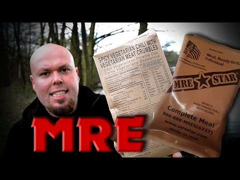MRE/ VEGETARIAN CHILI/ Review + Geschmackstest/ 2017