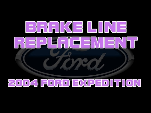 2004 ford expedition - replacing a rusted brake line
