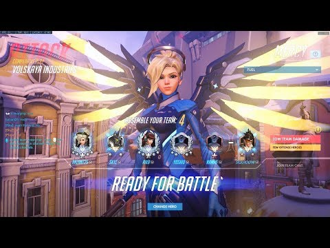 They really should take that care of themselves - Overwatch Mercy gameplay