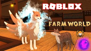ROBLOX FARM WORLD KITSUNE Rare Nine-Tailed Fox! Funny Roleplay - Adult vs Kid