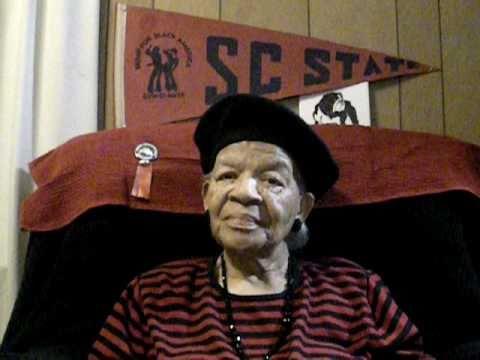 Grandma Singing Alma mater/ SC State c/o 1941