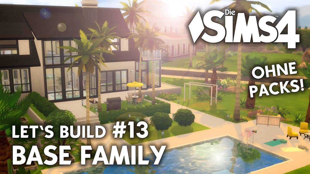 die sims 4 haus bauen ohne packs base family 13 pool garten deutsch youtube. Black Bedroom Furniture Sets. Home Design Ideas