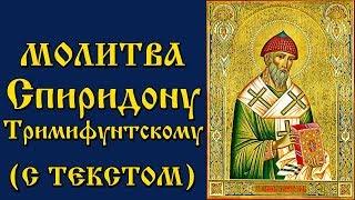 Молитва Святителю Спиридону Тримифунтскому (Аудио С Текстом и Иконами)