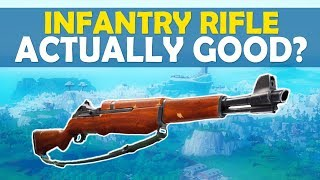 INFANTRY RIFLE ACTUALLY GOOD?  - (Fortnite Battle Royale)