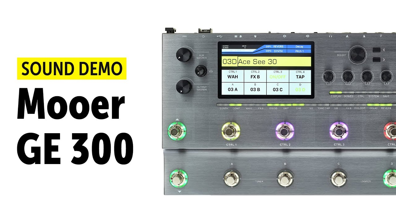 Mooer GE300: The 'budget Helix' is finally released