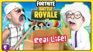 FORTNITE BOX FORTS in REAL LIFE! Adventure with HobbyHarry and HobbyGrit by HobbyKidsTV