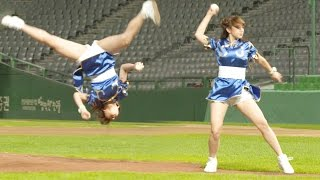 WJSN Cheng Xiao's Tumbling First Pitch!|우주소녀 성소 '공중 360도 회전' 시구 @내일은 시구왕 2부 20160914 thumbnail