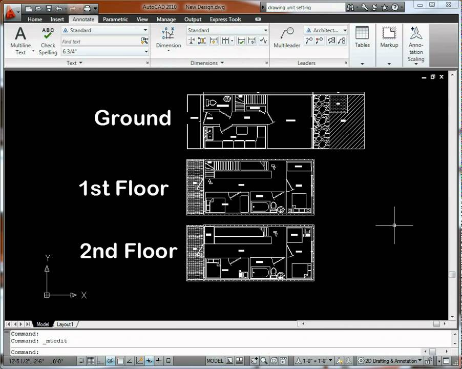 AutoCAD 2010 Floorplan Drawing