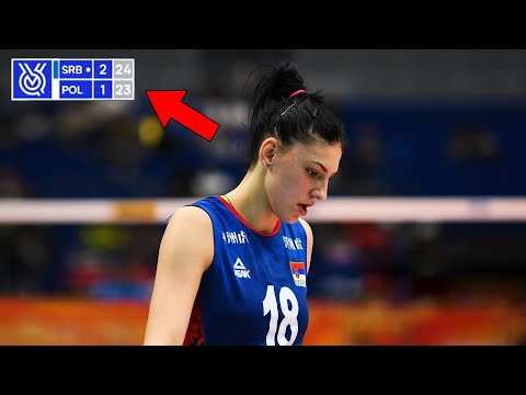 This Is Why Tijana Boskovic Is The Best Volleyball Player In The World   5 Points In A Row (HD)