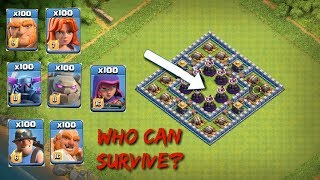 Who can SURVIVE this troll base in coc!!!  Traps VS Troops.  #1