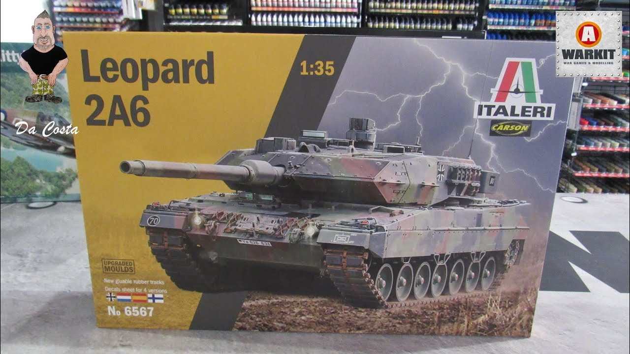 Italeri 6567-1//35 Leopard 2A6 Neu